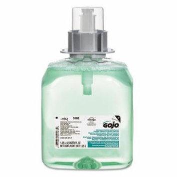 Go-Jo Industries 516303EA Luxury Foam Hair & Body Wash, 1250mL Refill, Cucumber Melon Scent