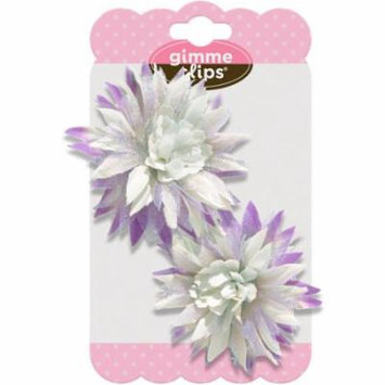 Gimme Clips Pom Hair Clips, Purple, 2 count