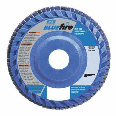 NORTON 66623399151 Flap Disc, 5 In x 80 Grit, 7/8