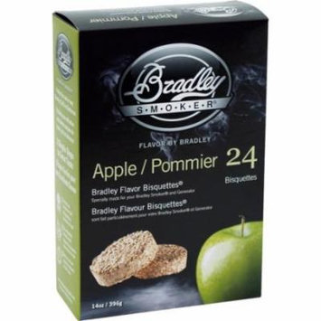 Bradley BTAP24M Apple Bisquettes 24-Pack