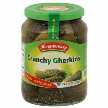 Hengstenberg Crunchy Gherkin Pickles, 24.3 fl oz, (Pack of 12)