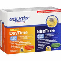 Equate Non-Drowsy DayTime/NiteTime Cold & Flu Softgels, 48 count