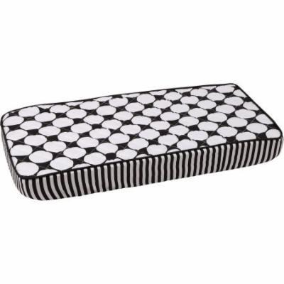 Bacati Dots/Pin Stripes Large Bacati Dots Changing Pad Cover, Black/White