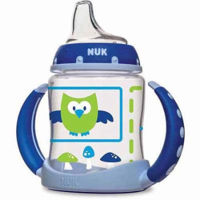 NUK Woodlands Learner Cup, 5 Ounce, 2-Pack, Silicone, BPA-Free, Boy