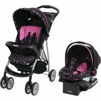 Graco LiteRider Click Connect Travel System, with SnugRide Click Connect 22 Infant Car Seat, Priscilla