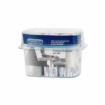 PHYSICIANSCARE Bandage Box Kit, 150 Assorted Bandages