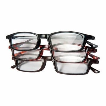 Reading Glasses, +2.5, Clear, Acrylic, PK 3