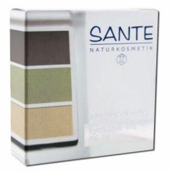 Sante - Eyeshadow Trios 5 Gram, Natural Green 04 5 gm