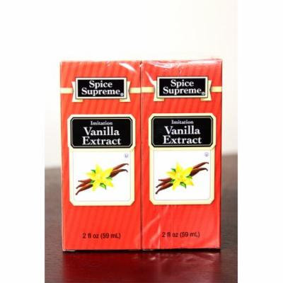Pack of 24 Spice Supreme Imitation Vanilla Extract 2 fl oz. #30930