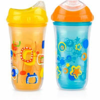 Nuby 2-Pack 9-oz Insulated Cool Sipper, Neutral, BPA-Free