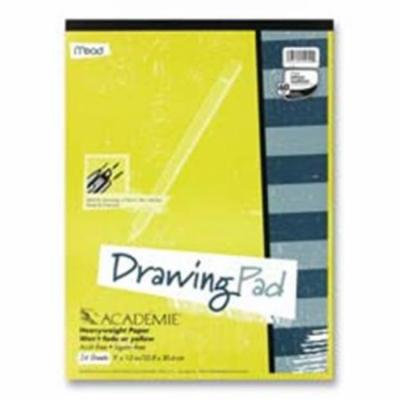Mead MEA54060 Drawing Pad- Heavy Weight- 12inchx18inch- 24 Sheets White