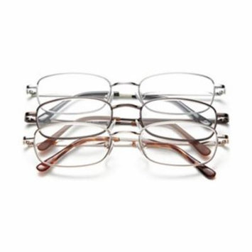 Reading Glasses, +4.0, Clear, Acrylic, PK 3