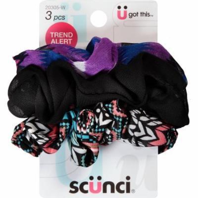 scunci Twisters Bright Colors Elastics, 3 count