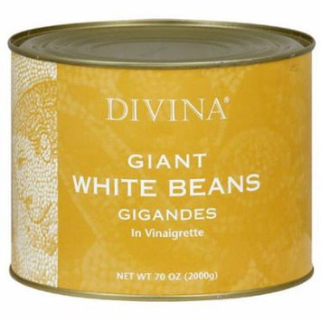 Divina Giant White Beans in Vinaigrette, 70 oz, (Pack of 6)