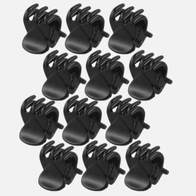 6 Pair Black Plastic Hairclip Hair Clamp Claw Clip for Lady