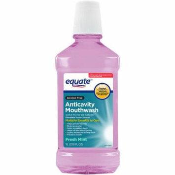 Equate Alcohol Free Fresh Mint Anticavity Mouthwash, 33.8 fl oz