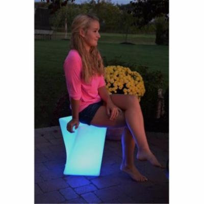 Main Access 131796 LED-Twisted Stool- Weatherproof with remote, charging cord