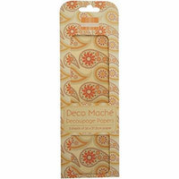 Trimcraft Deco Mache Paper Boho Chic, 10.25-Inch by 14.75-Inch, Orange Paisley, 3-Pack Multi-Colored