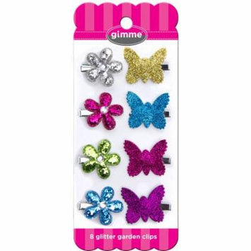 Gimme Glitter Garden Hair Clips, 8 count