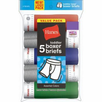 Hanes Toddler Boys Exposed Waistband Boxer Briefs 5 Pack