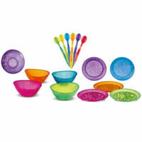 Munchkin 6 Pack Soft-Tip Infant Spoon with 5 Pack Multi Bowls & 5 Pack Multi Plates