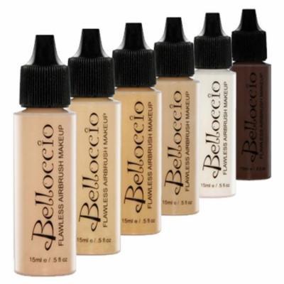 Belloccio MEDIUM Airbrush Makeup FOUNDATION SET Mid Tone Shade Face Cosmetic Kit
