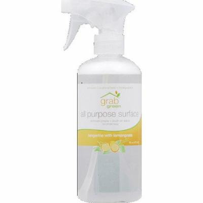 GrabGreen Tangerine with Lemongrass All Purpose Cleaner, 16 oz, (Pack of 6)