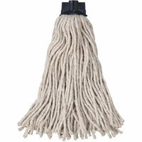 Rubbermaid Commercial White Cotton Replacement Mop Heads for Mop/Handle Combo, 12 count