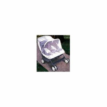 Twin Side by Side Stroller Protective Net in White