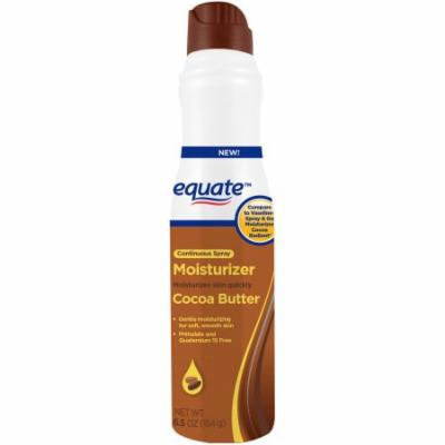 Equate Cocoa Butter Moisturizer Continuous Spray, 6.5 oz