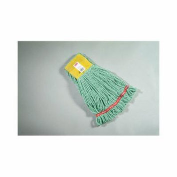 Rubbermaid Commercial Products Small Web Foot Wet Mop Head in Green