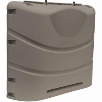 Camco 40529 Heavy Duty Polypropylene Propane Tank Cover fits 20 lb Steel Double Tanks, Brown