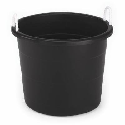 Homz 17-Gallon Black Rope Handle Tubs, Set of 2
