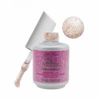 IBD 0.5floz Just Gel Social Lights Collection Nail Polish, CLEAR GLITTER BILLION-HEIRESS