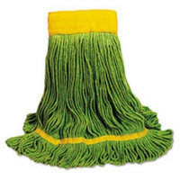 Unisan Ecomop Looped-End Mop Head, Recycled Fibers, Medium Size