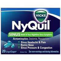 Vicks NyQuil Sinus LiquiCaps, 20ct