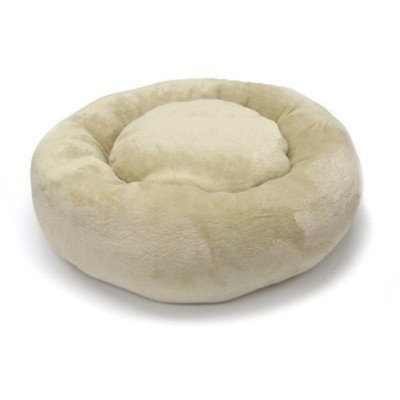 Precision Pet Donut Bed 20 in. Tan Baby Terry