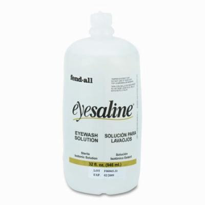 FENDALL Eye Wash Saline Solution Bottle Refill, 32-oz