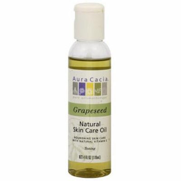 Aura Cacia Grapeseed Natural Skin Care Oil, 4 fl oz
