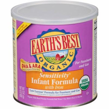 Earth's Best Organic Sensitivity Infant Formula with Iron, 23.2 oz, (Pack of 4)