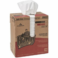 Brawny Industrial Light-Duty Paper Wipers, White, 148 sheets, 20 count