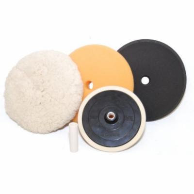 Foam Wool Buffing Polishing Pad Kit, 3 - 8