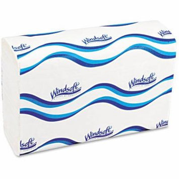 Windsoft Embossed C-Fold Bleached White Paper Towels, 150 sheets, 12 ct