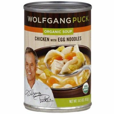 Wolfgang Puck Organic Chicken Soup with Egg Noodles, 14.5 oz (Pack of 12)