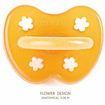 Hevea Natural Rubber Orthodontic Pacifier - 3m+ - Flower