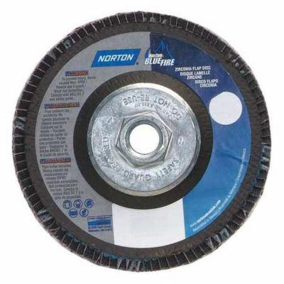 NORTON 66623399190 Flap Disc, 5 In x 40 Grit, 5/8-11