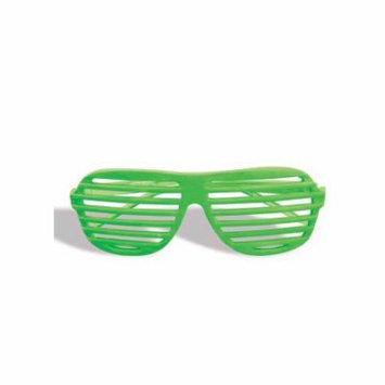 Neon Slat Glasses - Green Forum Novelties 62946