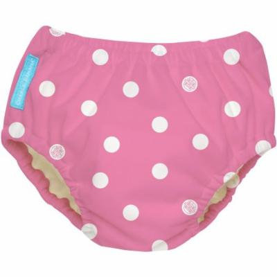 Charlie Banana Extraordinary Swim Diaper, Big Polka Dots on Baby Pink