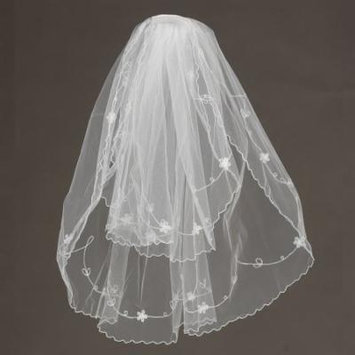Angels Garment Girls White Flowers Details Communion Bridal Veil