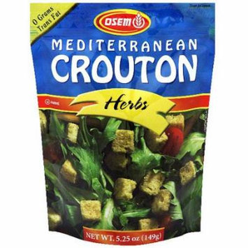 Osem Mediterranean Herb Croutons, 5.25 oz (Pack of 8)
